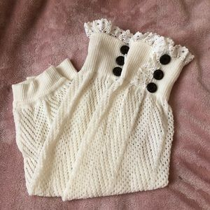 Lace cream boot toppers